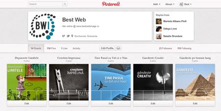 Cum personalizez contul de Pinterest